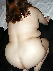 BBW amateur in sheer underpants and bare