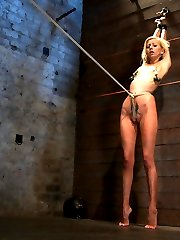 Welcome Rene Phoenix back to Hogtied. This tiny sexy blond has an amazing tight, huge nipples...