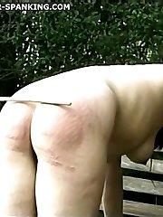 Outdoor spankings for two lovely young schoolgirls