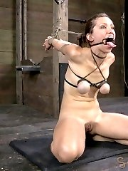 This is the very LAST published scene from Audrey Rose. She did us the honor of letting us be her last fling before she goes into the vanilla world. And she is going to go out with a bang. She is going to suck on a massive, black cock until her face is covered in deep throat spit. Then there is the bondage. It is the most intense she has ever experienced. We are taking her to full sexual blowout.
