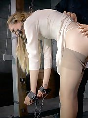 "Emma Haize is a hot blonde, sporting a pair of tits that scream ""touch me"", a pretty little pussy begging to be fucked, and a love of bondage that speaks for itself. She doesn't hesitate for a second when it comes to getting down and dirty with the masters of BDSM. O.T. is her guide today, into the world of seductive bondage, rough corporal punishment, and intense sexual humiliation."