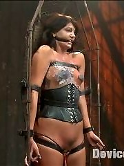 Welcome Cassandra to the playing board. Today she suffers some incredibly tough restrain bondage predicaments and takes the pain like a champion. In scene one, Cassandra is leaned over, standing, manacled in metal. Her cattle prod virgin is taken from her and she is mercilessly tortured with corporal. Flipping her into an bend position, she gets ended off with some highly powerful orgasms. Second, in ballet shoes and a leather corset, she is bound into a antique rescue trash. Paraffin Wax is poured all over her cupcakes and puffy nipples. An inflatable faux-cock is slid into her tender cunt and she is hoisted into an upright posture. Ultimately Cassandra is folded on a perch wearing half latex, half hosiery. She is trussed with leather cords all down her gams and hoisted into the air. This tart ejaculates so much even Claire is impressed. Finishing her off with a pussy hook bound to her soles, she is left alone to suffer.