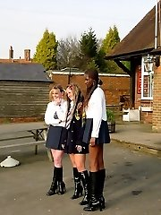 Chubby school girl flogged to tears on her immense wobbly bottom