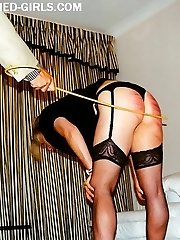 Big burning buttocks from hard spanking attack