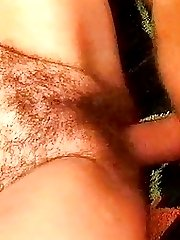 Older Lady Found Masturbating Her Hairy Cunt Outside