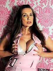 Nylon Jane has a highly girly side and sometimes a cute pink attire gives her the right feeling that she needs! Obviously the attire is completed off with downright fashioned stockings though