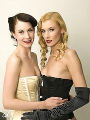 Nylon lesbians Mia and Marlena   Part I