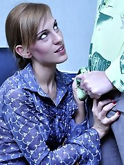 Raunchy secretary in open goods fashion hose gets boinked for a good-sized cumload