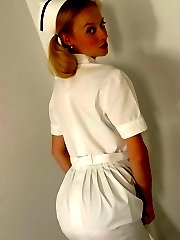 Nurse in stockings