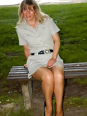 Wet ultra sheer and shiny pantyhose