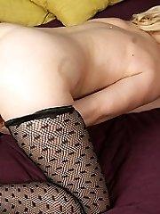 Naughty mature slut playing and peeing