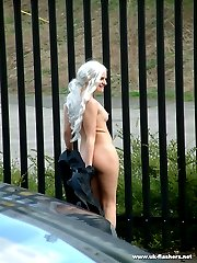 Public nudism in the street