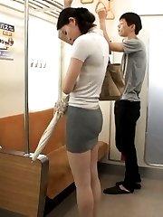 Kanon Takikawa Asian in tight skirt is PublicSexJapan.com
