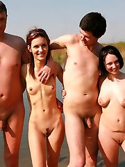 Husbands exchanging their married gals in wacky mate-swapper gang bang