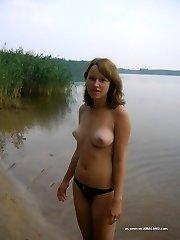 Sexy girlfriends display their bikini figures