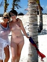 Photos of wives naked on a beach