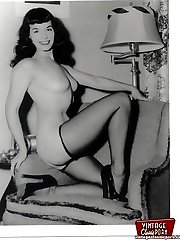 Betty Page displaying her body
