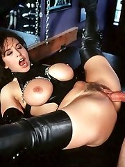 Keisha in fetish gear shagging a dude