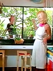 Retro blonde Seka fucking