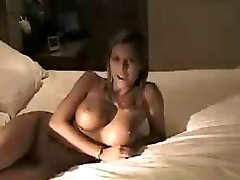 Huge tit blonde babe knows how to suck and fuck