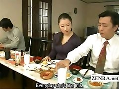 Subtitled bizarre Asian bottomless no undies family