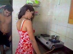 Husband slurping wife