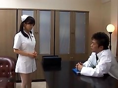 Doctor Has Hina Hanamis Cock-squeezing Nurse Pussy To Pound