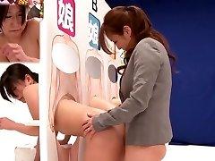 Amazing Japanese whore Saki Izumi, Hitomi Honjou, An Mizuki, Amateur in Fabulous strapon, lesbian JAV clip