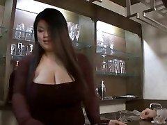 Asian bbw hj then belt cock