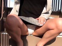 Japanese teenager filmed upskirt