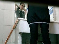 Toilet voyeur video of Asian girl pissing in restaurant