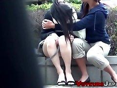 Asian teenage spied peeing