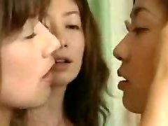 Two Asian Lesbians Seduce a Straight Lady