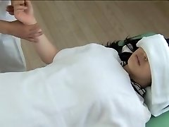 Gorgeous Jap gets screwed in horny spy cam rubdown clip