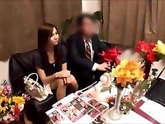 Japanese wifey gets massged while husband waits