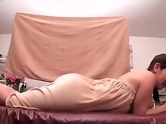 Oiled Asian darling prefers getting fumbled by her friend