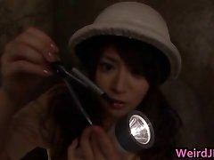Japanese honies at erotic broadcasts