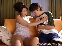 Wild asian mature babes sucking part2