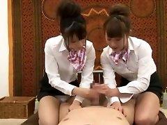 مجنون اليابانية الفرخ هيناتا تاتشيبانا, Hiyori Wakaba, Eri Ouka في قرنية الإستمناء, Threesomes JAV فيلم