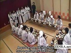 Feliratos Japán milf csoport előjáték étkezési fél