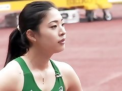 Magnificent Asian Track Starlet