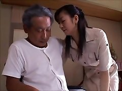 japanese wife widow takes care of daddy in law  Two