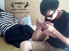 Chinese Student Foot Worship