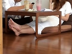 College Asian Candid Scorching FEET LEGS TOES SOLES