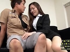 Super Hot Asian Secretary Takes Advantage 1