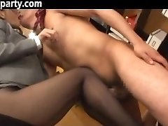 Secretary Cum On Her Pantyhose Chinese
