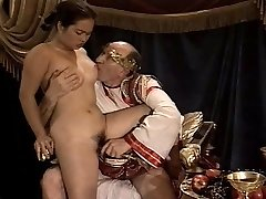 Asian Young Woman Casting made by Older & Fat Grandpa