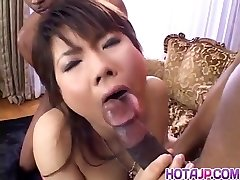 Masami Abe gets dick in multiracial plumbing