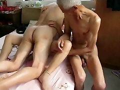 Asian girl does hubby and his daddy