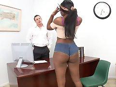 Hot girl fucks with her boss